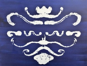 Rorschach Indigo 3 by Elsi Elizabeth Mason