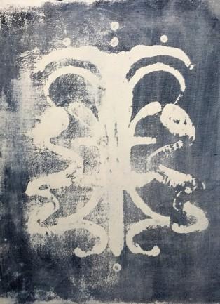 Rorchach Indigo 1 by Elsi Elizabeth Mason