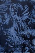 Shimenawa 1 - acrylic monotype - $80