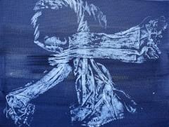 Shimenawa 4 - acrylic monotype-$125